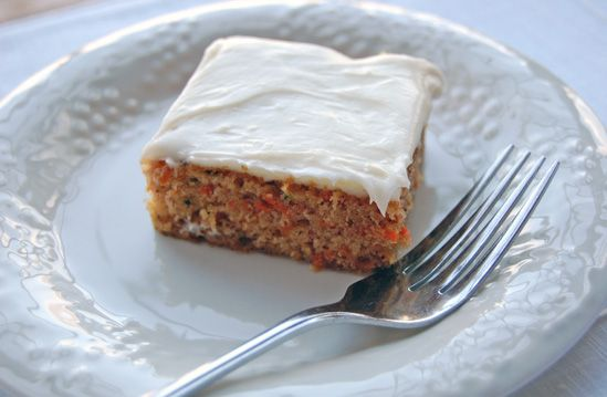 Zucchini carrot cake with cream cheese frosting.
