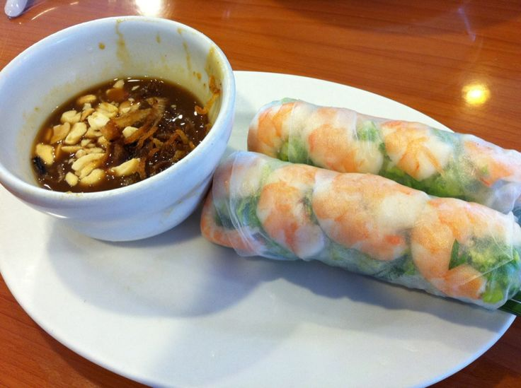 spring rolls with peanut sauce | Asian Fusion | Pinterest