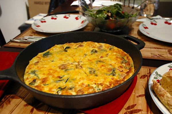 Roasted Red Pepper And Italian Sausage Frittata Recipe ...