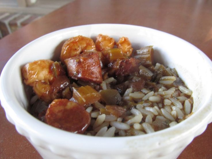 "Shrimp & Andouille Sausage Gumbo (With ""Shortcut"" Roux)"