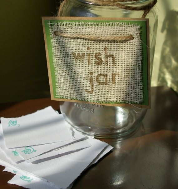 Guest Book Alternative Mason Jar Wish Jar