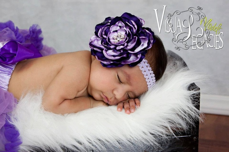 Fabric Flower Satin Rose Headband Purple and Lavender. $14.00, via Etsy. Touch of Charm Boutique