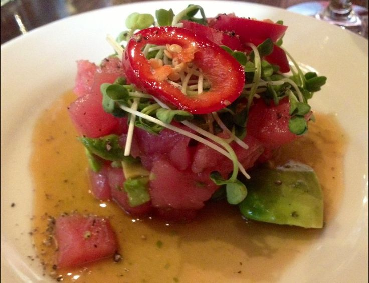 Rare Tuna Salad With Avocado And Daikon Sprouts Recipes — Dishmaps