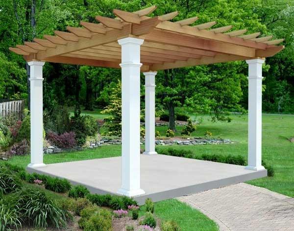 Treated Pine Free Standing Oasis Pergola Backyard Ideas