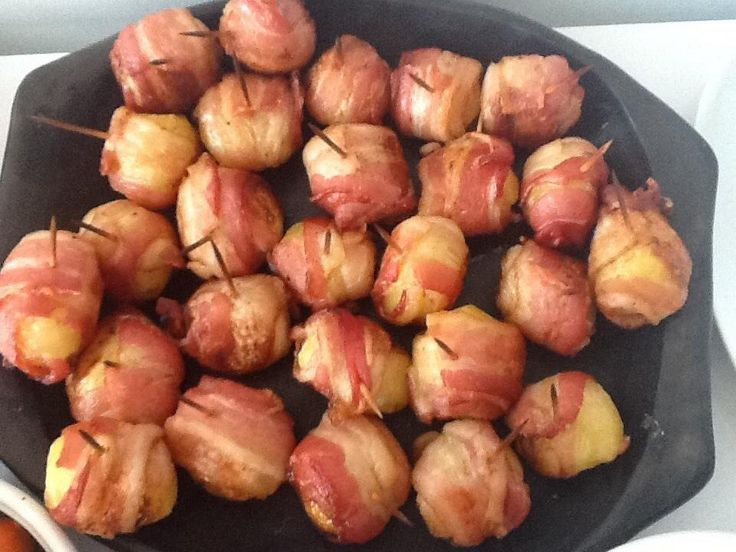 Bacon wrapped potatoes | Stop worrying about the fatt...lol.to good ...