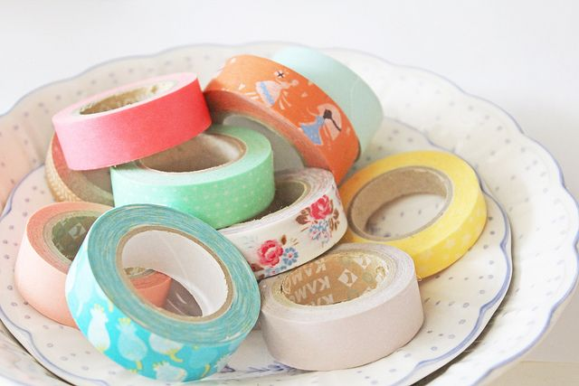 bowl of washi tape