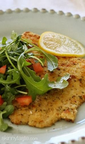 Flounder Milanese with Arugula and Tomatoes | Recipe