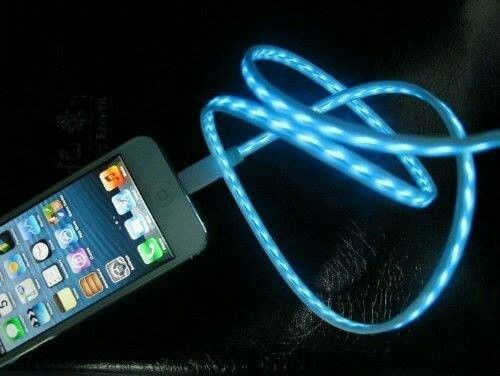light up LED IPhone charger | I want it | Pinterest