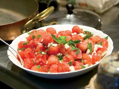 Watermelon Salad with Feta and Mint Recipe | Kitchen Daily