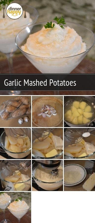 ... mashed potatoes. There is a hint of garlic mixed with creamy potatoes