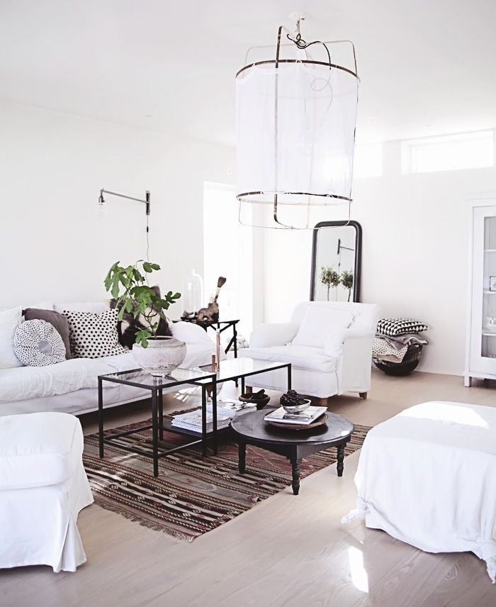The Z1 lamp by Nelson Sepulveda, sold by Ay Illuminate. Looks great in a modern white living room with ethnic touches.