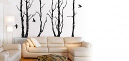 Forest and Birds - Wall Decals