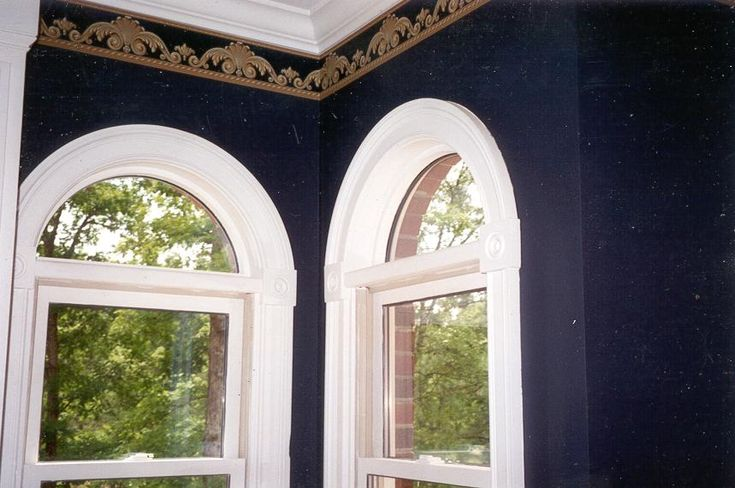 how to make arched window trim