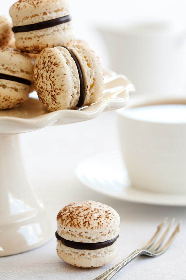 Tiramisu Macarons. #recipes #desserts #foodporn #cookies