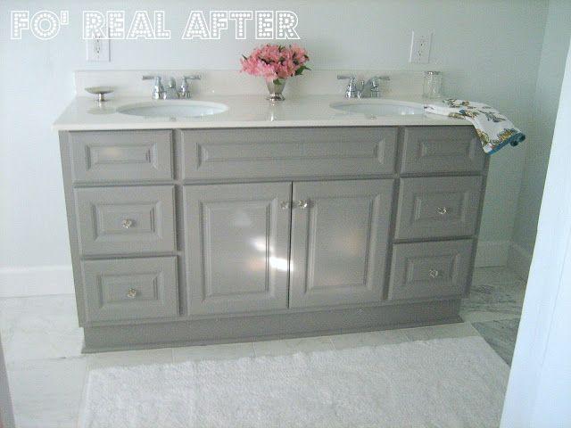DIY Custom Bathroom Vanity Bathroom Remodel Pinterest