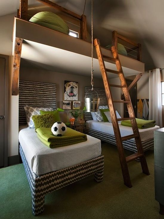 great boys room! love the loft! Another reason why we should have 2783802 more kids!!!!!