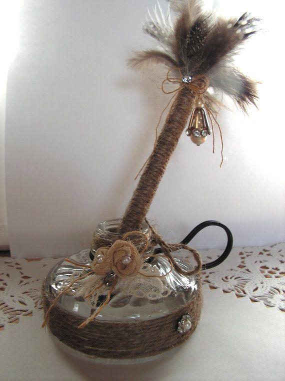 Rustic Shabby Wedding Pen Set handmade of twine by Mydaisy2000, $32.00