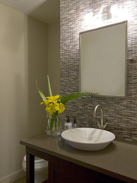 powder room design backsplash for the home pinterest