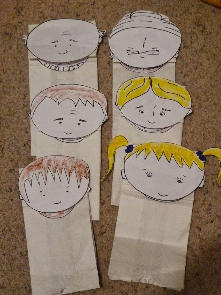 Paper Bag Puppets - Free DIY Templates | fun for kids | Pinterest