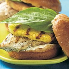 Grilled Pineapple Chicken Sandwiches   Food   Pinterest