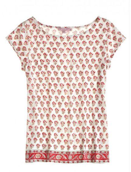 Indian Block Print T Shirt Mode Pinterest