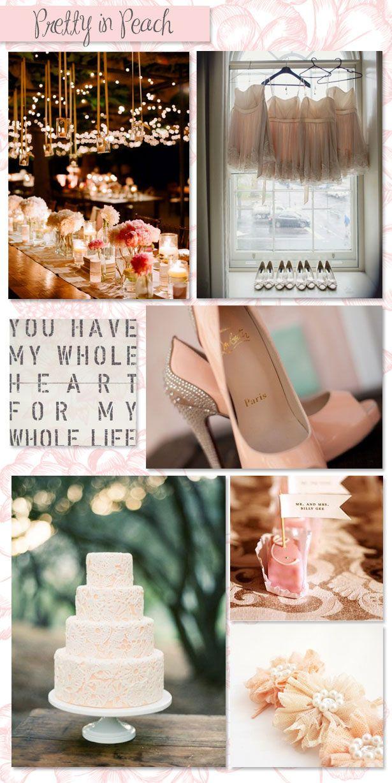 Peachy wedding colors:]