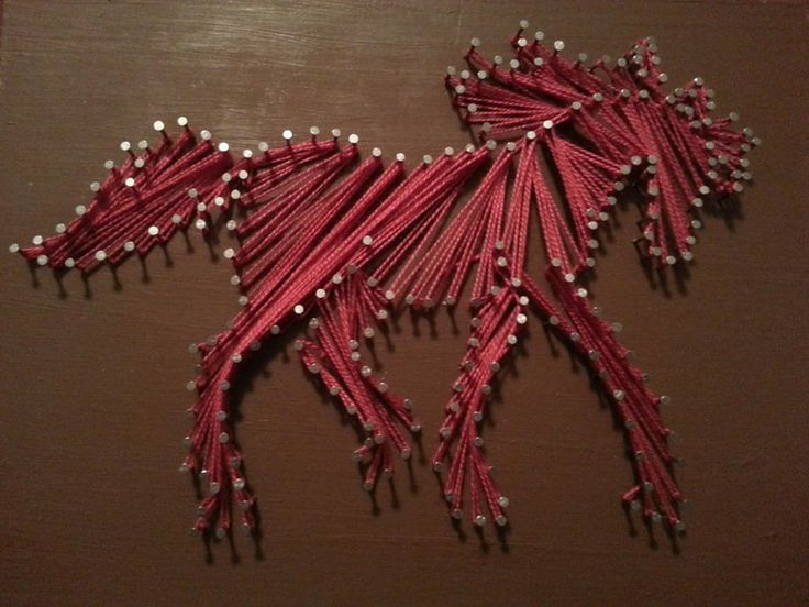 horse string art #stringart #craft #horse | String Art | Pinterest