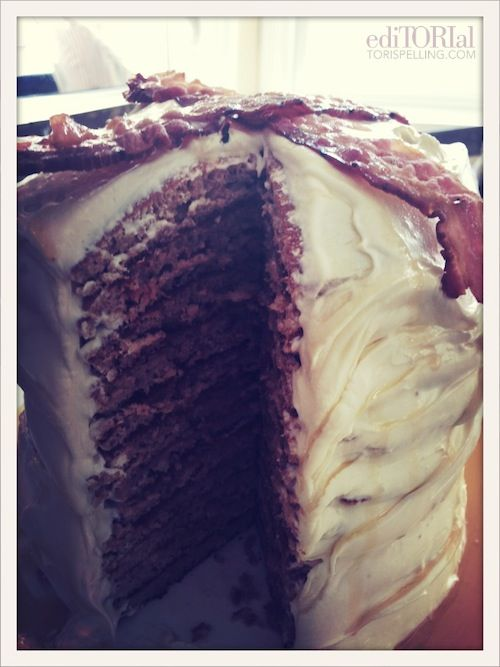 ediTORIal: A maple bacon pancake cake with a maple buttercream ...