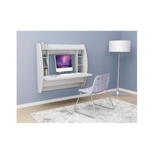 Wall Mount Desk Computer Space Saver Dorm Apartment