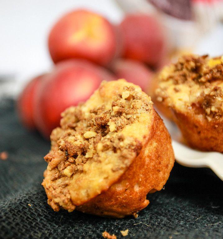 ... Sales   Summeripe Peach & Greek Yogurt Muffins with Bran Crumb Topping