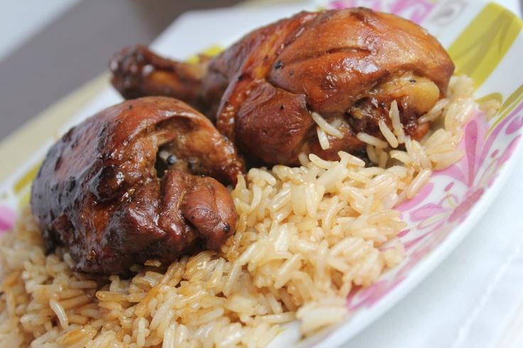 chicken adobo with garlic fried rice | Hawaiian Food | Pinterest