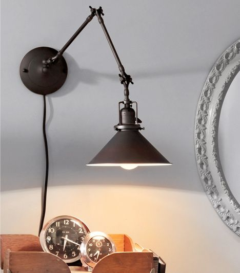 Wall Desk Lighting : Rejuvenation: Swing Time just