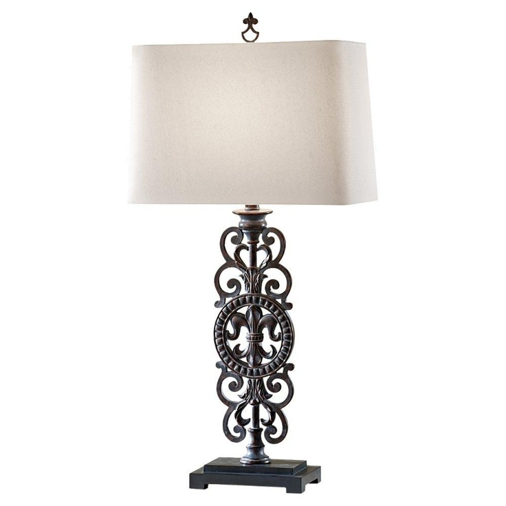 by creative lighting on rustic country traditional table lamps