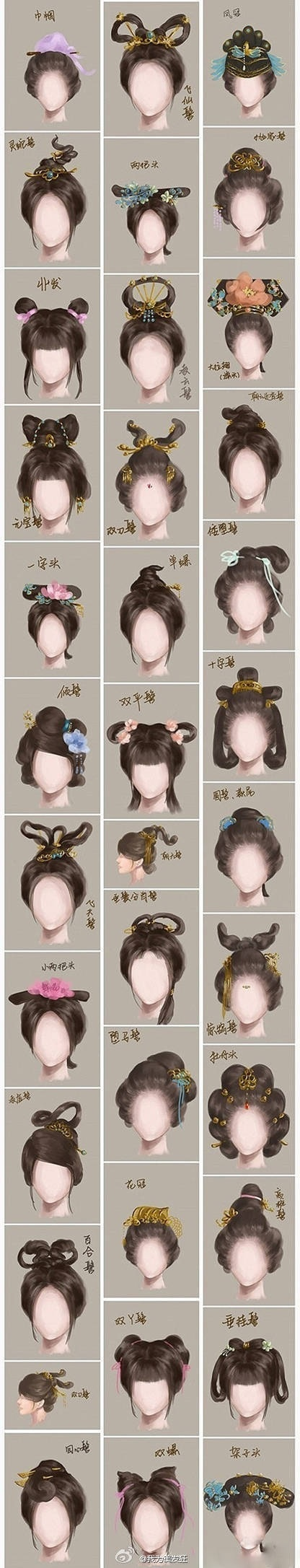 Ancient Chinese Women Hairstyle Tradition Chinese
