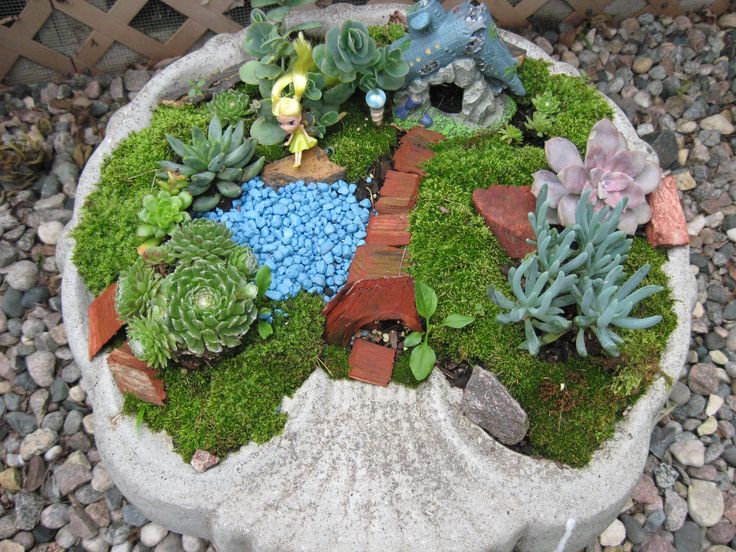 Fairy Garden Craft Ideas Photograph   Birdbath Fairy Garden