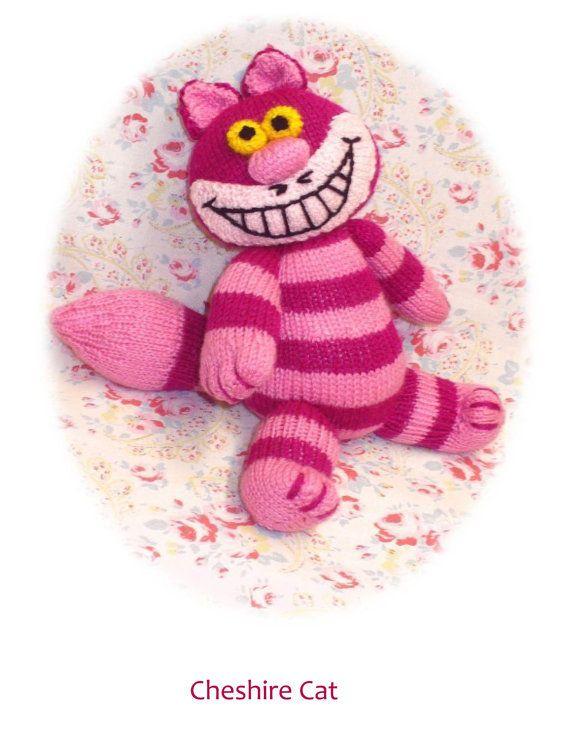 Cheshire Cat Amigurumi Pattern : cheshire cat PDF email knitting pattern alice in wonderland