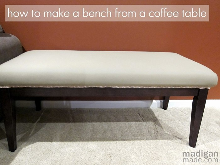 How To Turn A Coffee Table Into A Bench How To 39 S Diy More