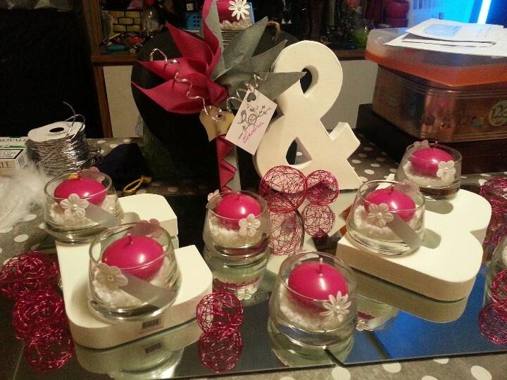 Deco mariage fushia gris et blanc  Wedding in Pink and Grey  Pinter ...