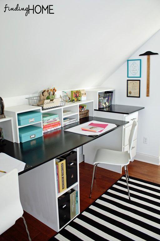 Easy diy built in desk tutorial for Easy diy desk