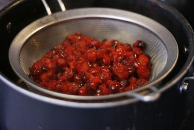 Homemade jellied cranberry sauce...with out the whole berries