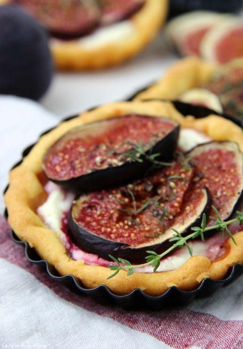 Feigen Tartelettes mit Thymian | Tarte, Quiche, Pizza, Flammkuchen ...