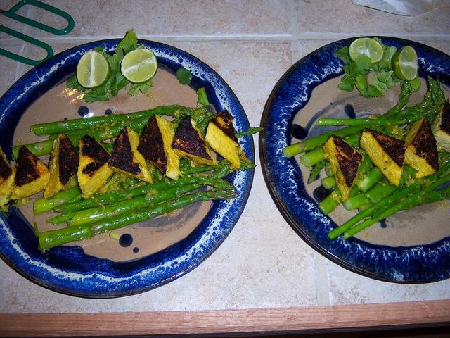 Tofu & Asparagus with Lemongrass Rub | P90X Fat Shredder Low-Carb Mea ...