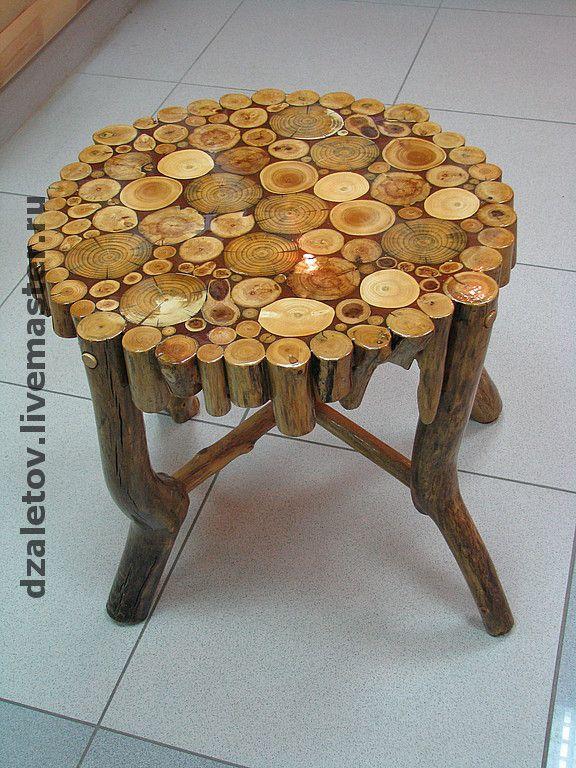 Мебель из круглого дерева своими руками