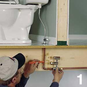 Good bye sweaty toilet for Water wall plumbing