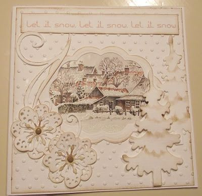 White on white christmas card