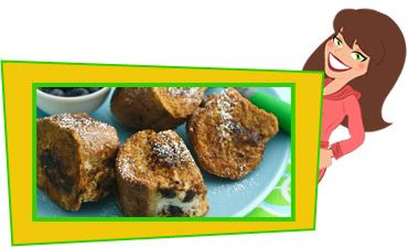 Cannoli-Stuffed French Toast Nuggets | Healthy and lite cooking | Pi ...