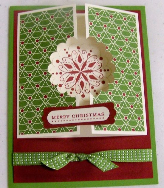 Tri fold christmas card ideas pinterest for How to make folded christmas cards
