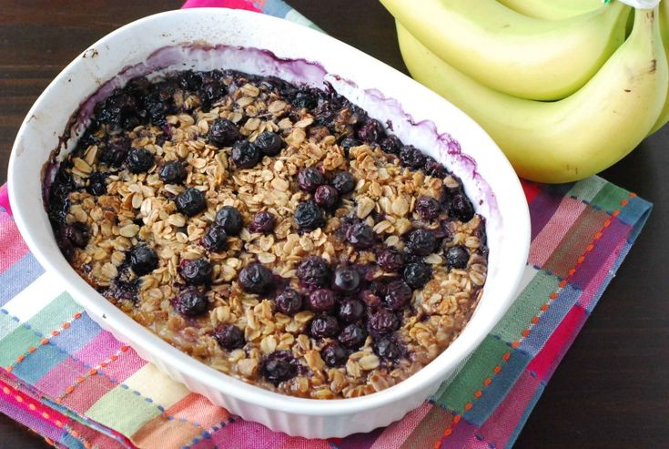 Baked Oatmeal With Blueberries And Bananas Recipes — Dishmaps