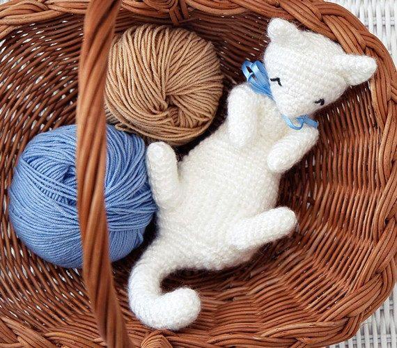 Cat Crochet Pattern, Kitten Crochet Pattern, Cat Amigurumi ...