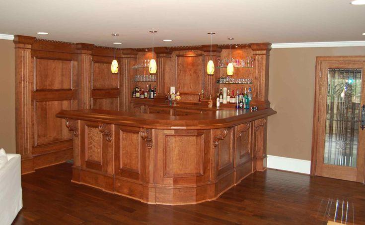 Basement bar design?  To build a house...  Pinterest